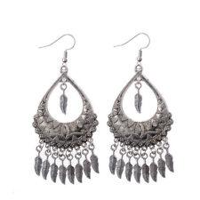 Bohemian Fashion Hollow Carved Tassel Alloy Earrings For Lady  DW-EH-HXE013-2