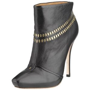 L.A.M.B.Lamb JAYCEE Studded Black Leather Ankle Boots SZ 10 New NIB