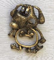 Adorable dog brooch pin