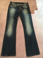 Kids Replay And Sons Boot Cut / Flared Blue Denim Jeans Size 36. Fits An Adult 8