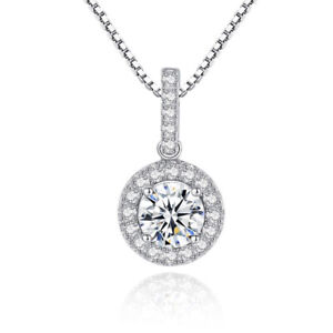 Fashion Full Pave Setting AAA Zircon Necklace Silver Plated High Quality Girls