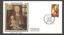 Canada Scott # 774 Virgin And Child Fdc. Colorano Silk Cachet