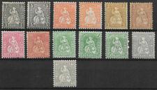 Schweizer Briefmarken mit Falz