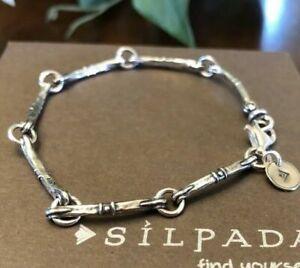 SILPADA RARE Sterling Silver Dot Bar Link Bracelet B1696 HTF MINT
