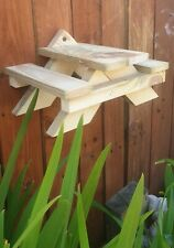 Squirrel Feeder Mini Picnic Bench Hand Made Garden Wildlife Nature