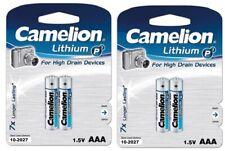 4 x Camelion LITHIUM Batterien AAA Micro 1,5V 1 Blister mit 2 Stück MHD 10-2027