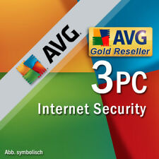 AVG Internet Security 3 PC 2018 Vollversion 1 Jahr DE EU Antivirus Promotion DE