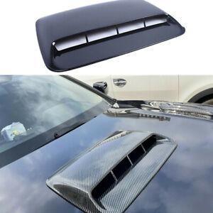 ABS Plastic Car Air Flow Intake Hood Scoop Vent Bonnet Cover Carbon Fiber Look