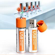 2PCS 1.5V 1200mAh USB Rechargeable 1 Hour Quick Charging AA Li-po Battery