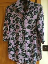 NEW LADIES WOMENS CHIFFON BLOUSE SHIRT FLORAL PRINT - GORGEOUS !!!