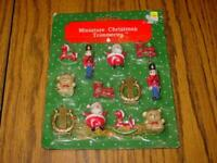 (12) VINTAGE Bradford - Miniature Christmas Trimmeries / Ornaments - SEALED/New