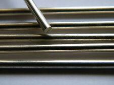 Barra de plata esterlina sólida de alambre 4.0mm X 50.0mm longitud recta completamente duro .925