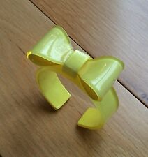 Gorgeous Pretty Yellow Bow Perspex Bangle / Cuff - NEW - Kawaii -Perfect Gift