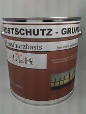 (7,99€/L.) Matter Rostschutz-Grund Eisen,Stahl RAL GRAU  2,5 L.