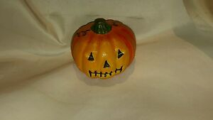 Signed Maruta Sutton Pumpkin Jackolantern LE 293/2663 Hand Painted Folk Art