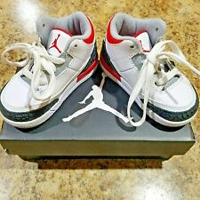 Air Jordan Retro 3 Fire Red Toddler 6C Nike Sneakers Baby Shoes White With Box