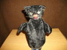 Steiff - Schwarzer Kater -  Handspielpuppe  ca. 22 cm groß