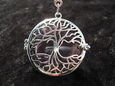 Caged Amethyst Gemstone Tree of Life Pendant Yggdrasil Pagan Wiccan Hedgewitch