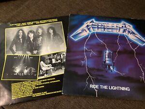 metallica ride the lightning vinyl excellent condition rare 1984