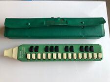 More details for hohner melodica soprano green 1970s vintage & case
