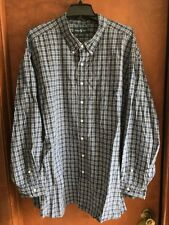 Ralph Lauren Big And Tall Men's Classic Fit Button Down Shirt 5X Blue Plaid