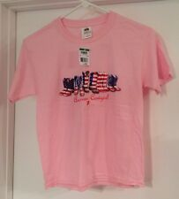NWT Fruit Of The Loom Girls Youth Pink T-shirt Size Medium