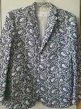 NEW! Black Fleece Brooks Brothers Lace Seersucker Paisley Jacket Blazer Coat 38R