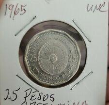1965-ARGENTINA-25  PESOS-KM 61- UNCIRCULATED CONDITION!!!!!