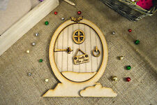 3D Christmas Fairy Door Kit - Wooden, MDF, Paintable, Embellishments, crafts