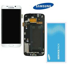 Samsung Galaxy S6 Edge G925F LCD Display Weiss  ⫸  Original Service Ware  ⫷
