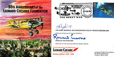 Flown in Lancaster Signed M C N Foxley Norris British Fighter Pilot  & Ronald Tr
