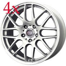 Drag Wheels DR-37 17x7.5 5x120 +42 Silver Rims For BMW X3 135i 128i 325 328 330