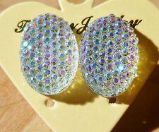 Rhinestone Sparkly Ab Crystal Diamante Diamond Stud Earrings