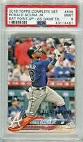 RONALD ACUNA 2018 Topps 698 All Star set stamp RARER than bat down rookie PSA 9