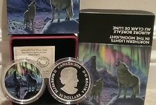 2016 Northern Lights Moonlight Wolf $30 2OZ Pure Silver Coin Canada Glow-in-Dark