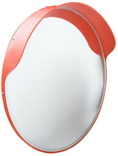 24 in. Round Convex Safety Mirror Shatter Resistant Lens Durable Adjustable