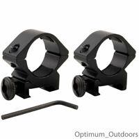 "QD Low Profile Scope Mounts 25mm 1"" Rings / 20mm Weaver Picatinny Gun Rifle Rail"