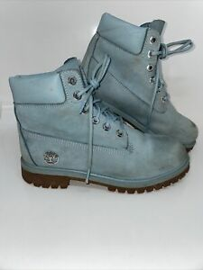Timberland Men / Youth Size 5 Primaloft Blue Suade Mid Tops