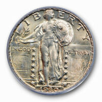 1930 25C Standing Liberty Quarter PCGS MS 65 FH Full Head Uncirculated