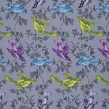 1YD Honor Roll CHATTERBOX Birds & Vines Anna Maria Horner Fabric PWAHO79 Pewter