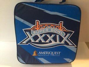 RARE SUPER BOWL XXXIX 2005 seat cushion MINT Patriots Tom Brady Jacksonville
