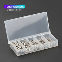 200Pcs Fishing Solid Stainless Steel Snap Split Ring Lure Tackle Connector 5#-9#