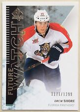 2013-14 DREW SHORE UD SP AUTHENTIC FUTURE WATCH ROOKIE #209 PANTHERS #1171/1299