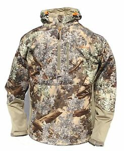 Cabela's 1/4 Zip KING's Desert Shadow SF Wind & Waterproof Hooded Hunting Jacket