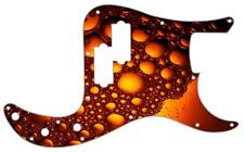 P Bass Pickguard Custom Fender Tele 8 Hole Guitar Pick Guard Amber Bubbles