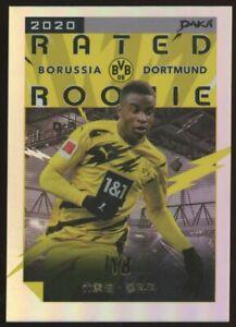 2020 Daka BVB Borussia Dortmund Rated Rookie Youssoufa Moukoko RC Refractor 4/18