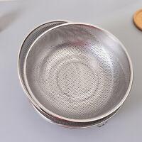 GT- DV_ Kitchen Fruit Rice Washing Drainer Mesh Strainer Basket Colander with Ri