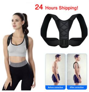 Adjustable Clavicle Posture Corrector Brace Shoulder Lumbar Support Belt