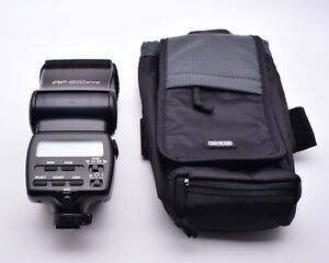 Pentax AF-500FTZ Shoe Mount Flash with Think Tank Case (#8521)