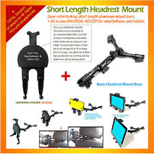 Headrest Mount type allinone Universal Holder as Tablet Mount, Smartphone Mount